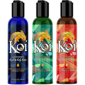 Koi CBD Lotion All 3