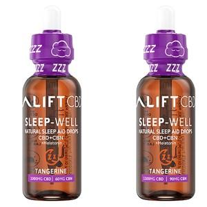 Lift CBD + CBN + Melatonin Sleep Well Tangerine Both mg Bottle
