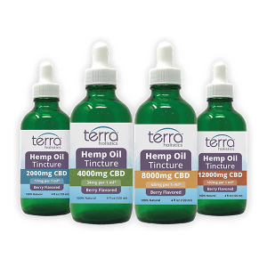 Terra Holistics CBD Isolate Tincture 4 Strengths 120ml