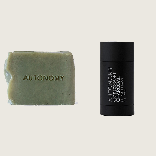 Autonomy CBD Cambrian Clay Soap and Charcoal Deodorant