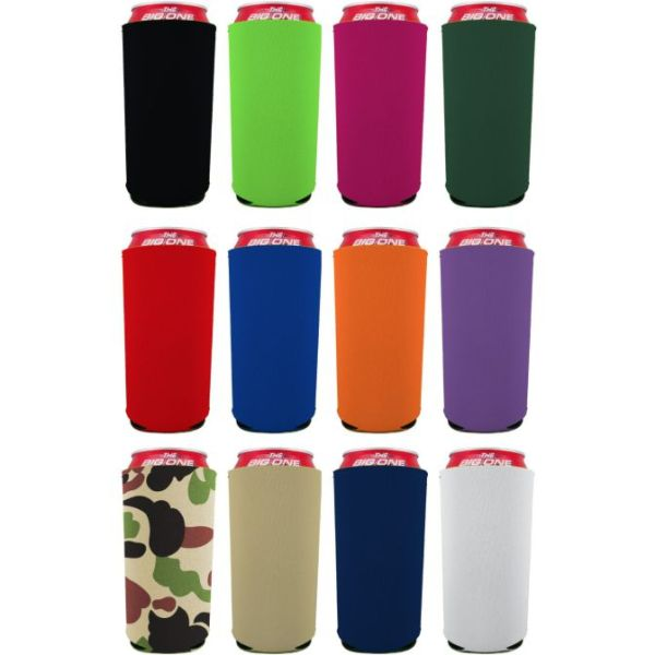 Blank 24 oz. can coolie color variety 12 pack.