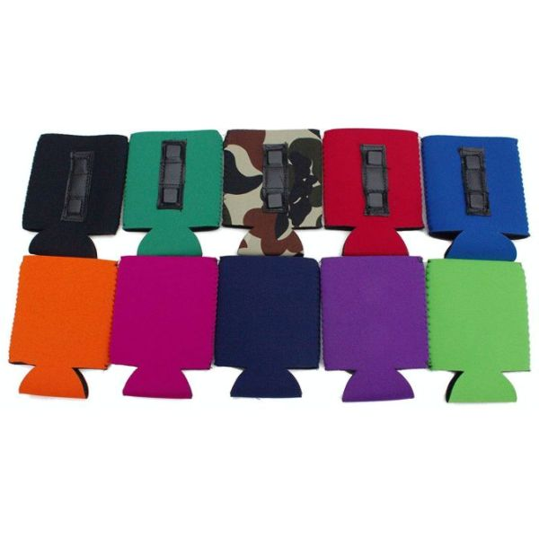 Blank magnetic neoprene can coolie variety 10 pack.