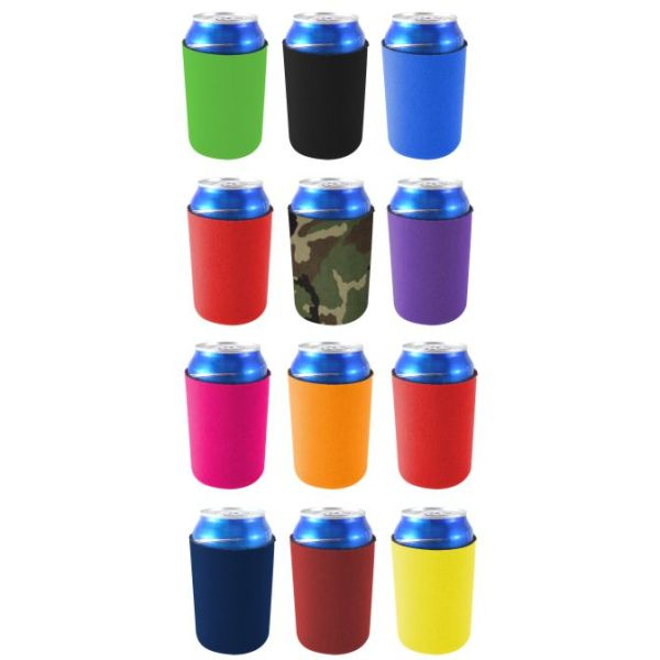 Blank neoprene can coolie variety color 12 pack.