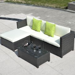Rattan Outdoor Sofa Design Terkini 2017 Patio Wicker Set 5pc Pe