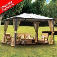10 x 12 Hardtop Gazebo Canopy w/ Mosquito Netting