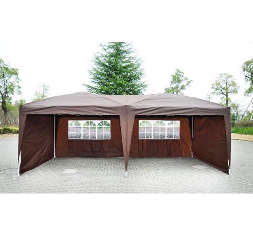 10 X 20 Pop Up Tent Canopy W 4 Sidewalls 5 Colors