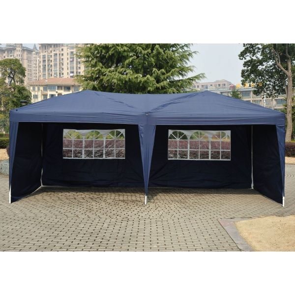 10 X 20 Pop Tent Canopy With 4 Sidewalls - 5 Colors