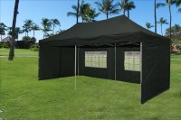 10 x 20 Pop Up Tent Canopy Gazebo w/ 6 Sidewalls - 9 Colors