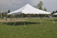 20 x 20 White Pole Tent Canopy - Commercial Grade