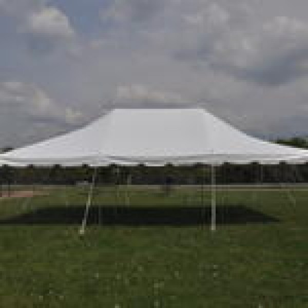 20 X 30 White Pole Tent Canopy