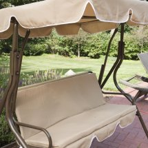 2 Person Covered Patio Swing With Adjustable Tilt Canopy