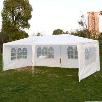 10 x 20 White Party Tent Canopy Gazebo w/ 4 Sidewalls