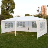 10 x 20 White Party Tent Canopy Gazebo w/ 4 Sidewalls