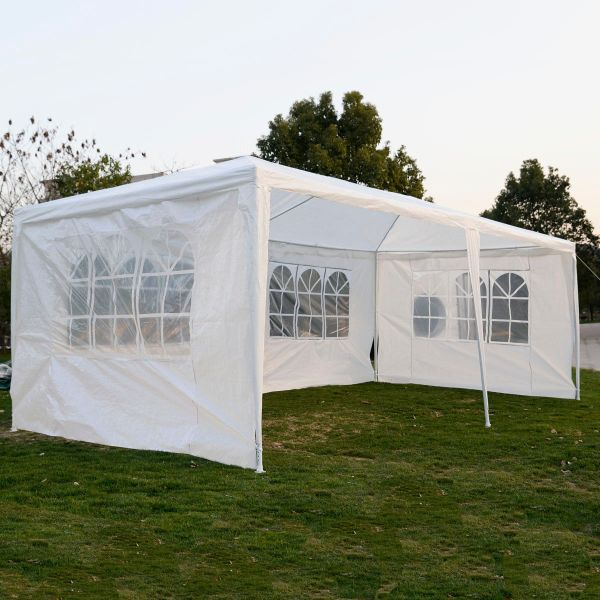10 X 20 White Party Tent With 4 Sidewalls
