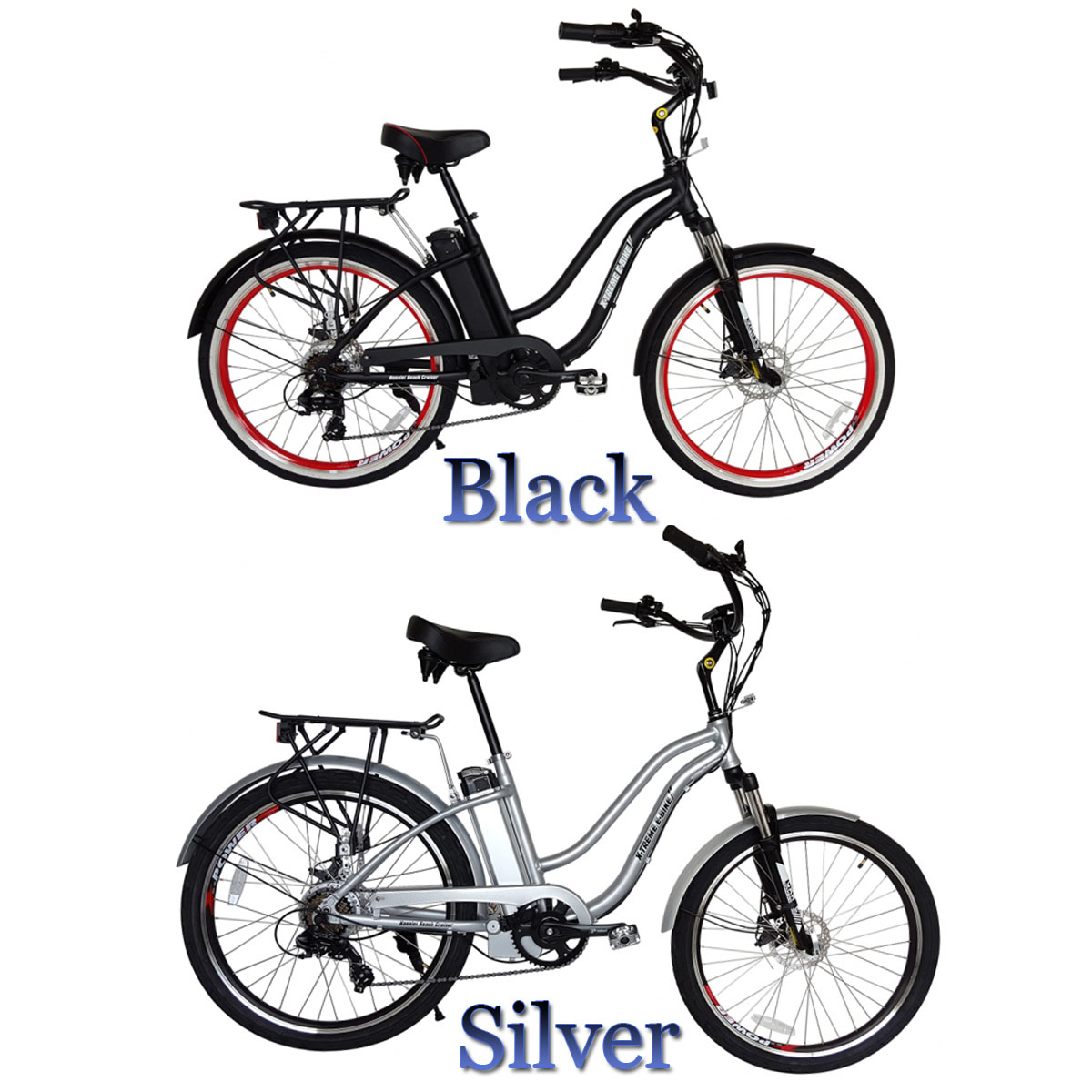 H Ei Electric Step Through Beach Cruiser Bicycle