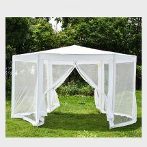 Hexagonal Gazebo Outdoor Patio Canopy With Mosquito Net