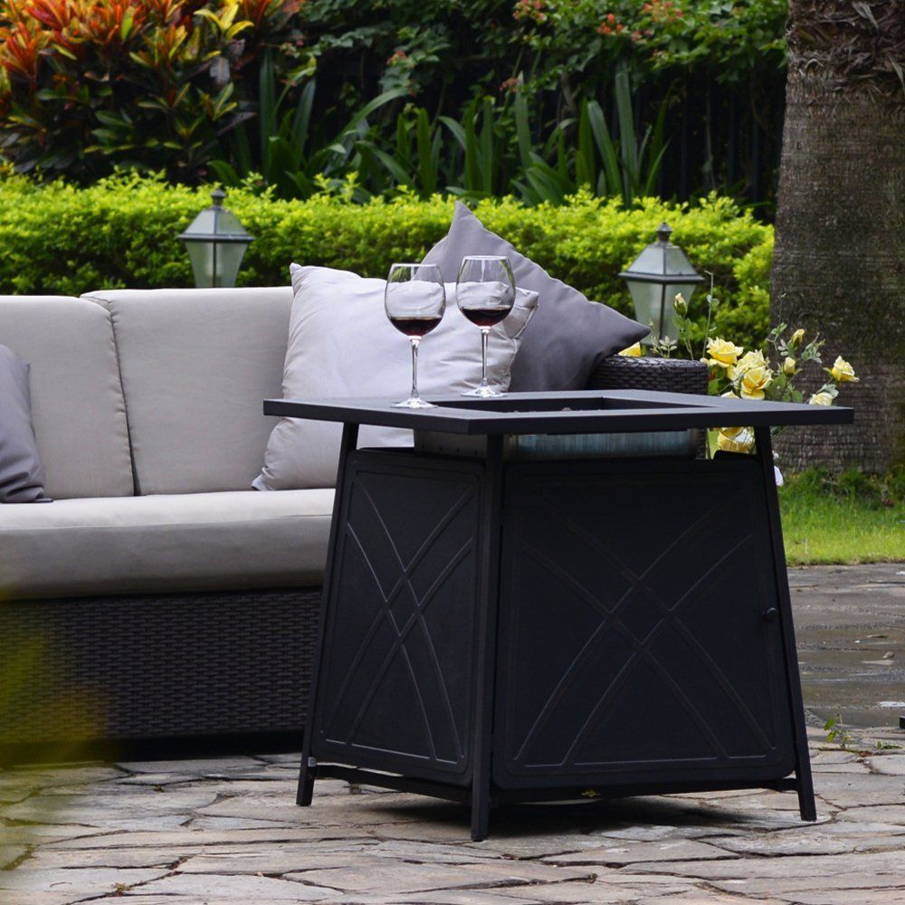 Outdoor Propane Fire Pit Table Patio Heater Gas 28 Inch