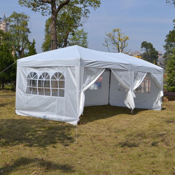 10 X 20 White Pop Tent Canopy Gazebo Shelter Unit