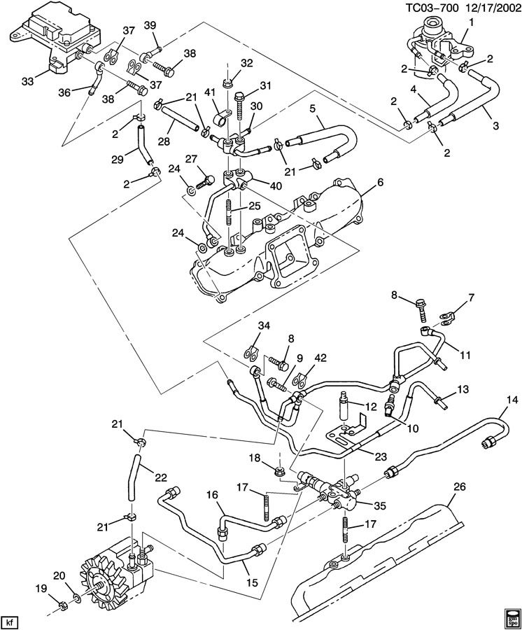 GMC Sierra FUEL INJECTION SYSTEM-PIPES & MODULE