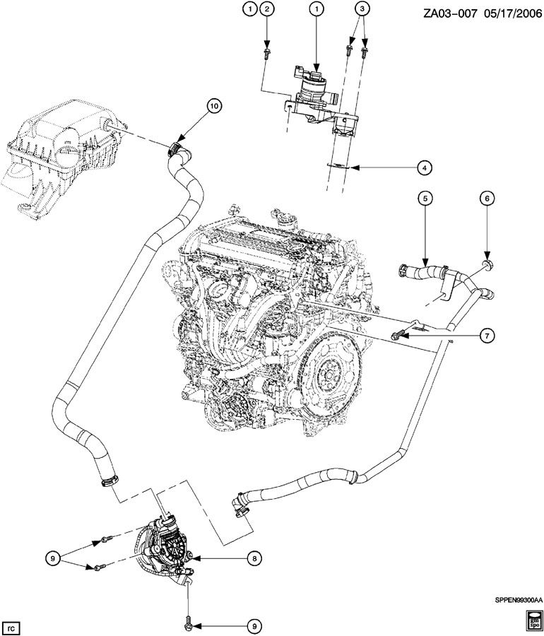 Saturn Ion A.I.R. PUMP & RELATED PARTS