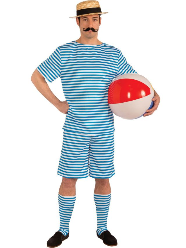 1920's Male Bathing Suit Adult Costume - Mens Costumes for 2019 ...