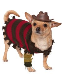 Pet Freddy Krueger Costume - Dog and Cat Costumes for 2018 ...