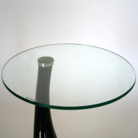 Modern Plastic Round Drop End Glass Small Coffee Table | eBay