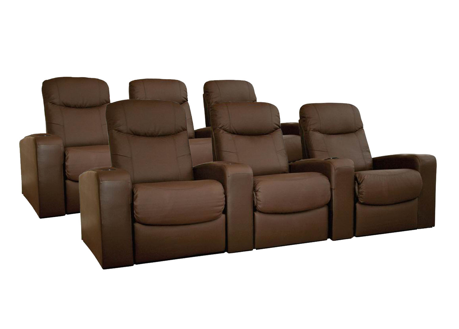 theater recliner chairs loveseat and chair leather home seating 6 brown cannes recliners
