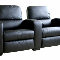 2 Seat Theater Chairs Pier 1 Chair Swing Leather Home Seating Black Kimera Seats