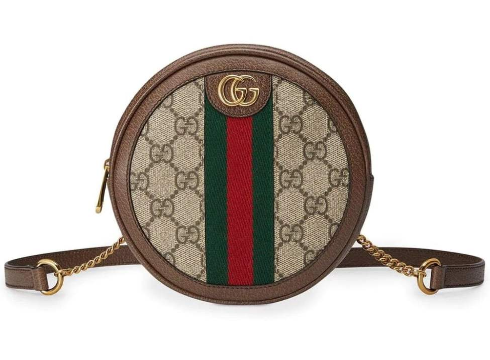 Gucci Ophidia mini GG round shoulder bag min