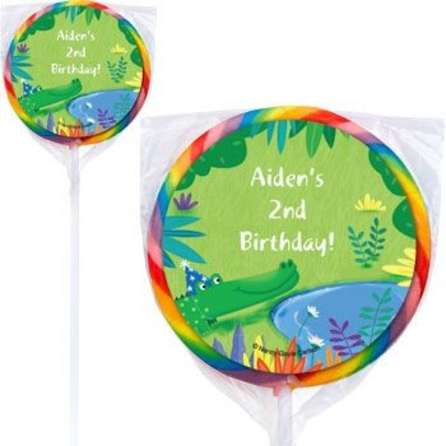 Jungle Party Personalized Lollipops Pack Of 12 - Accessories