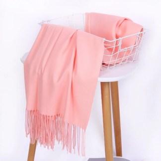 Peach Colour Cashmere Scarf