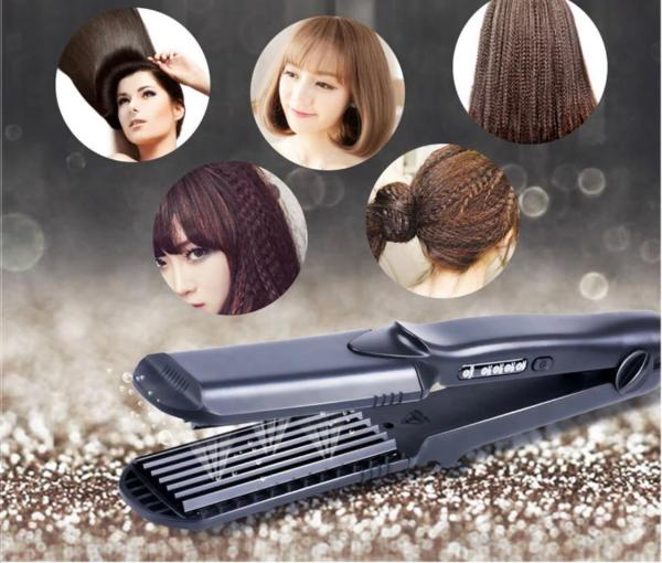 4 In 1 Hair Straightener Electric Splint Corn Whisker Plate Changeable Plate Perm Wave Curler - Wholesale Products Pro