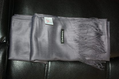 Dark Grey Colour Cashmere Scarf