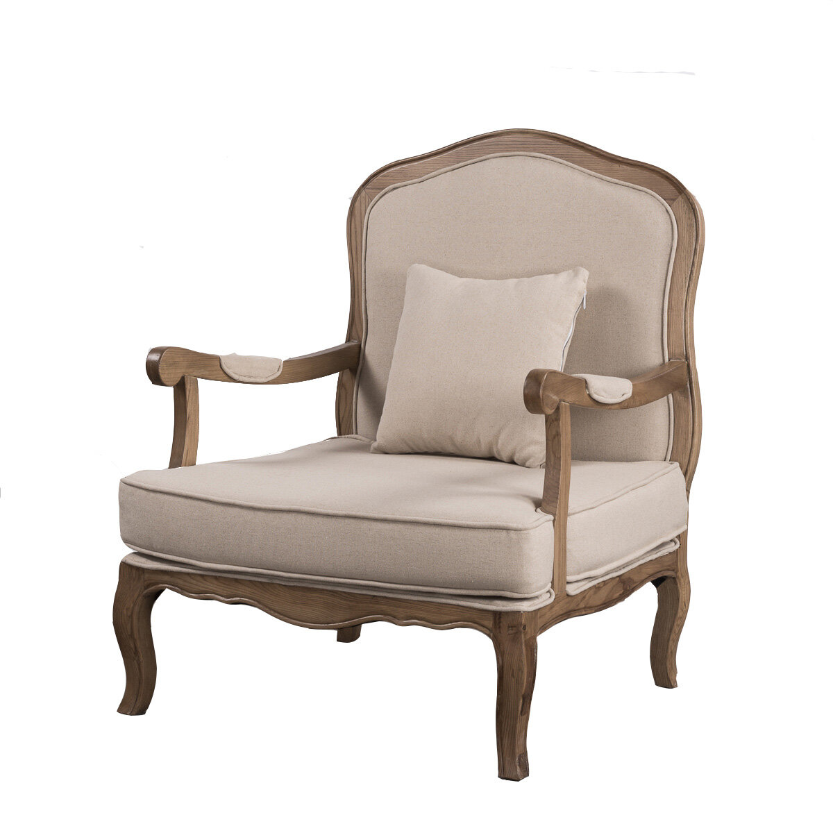 Single Chairs French Provincial Vintage Furniture Single Sofa With Arm