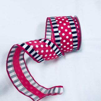 black white and fuchsia ribbon