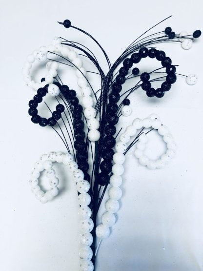 Black and White Curly Spray