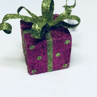 Fuchsia Gift Box Ornament