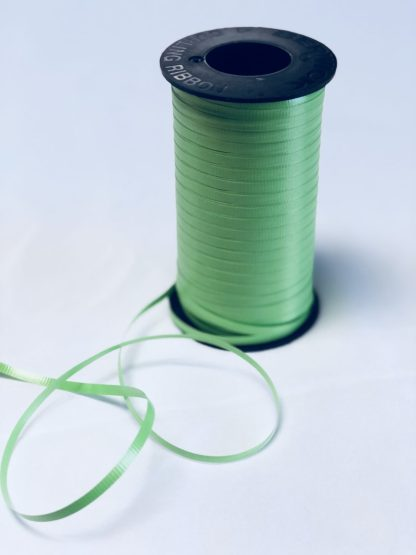 citrus green curling ribbon