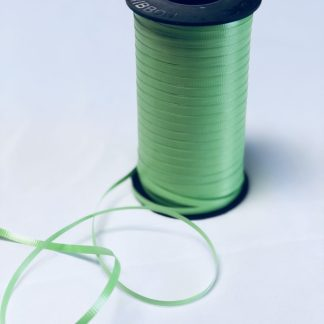 citrus green curling ribbon