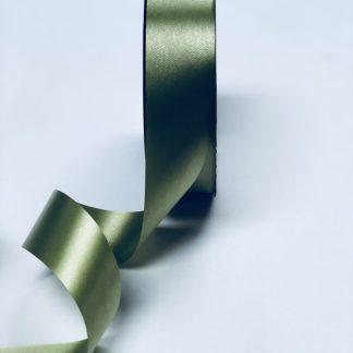 Moss Green Waterproof Satin Ribbon Narrow