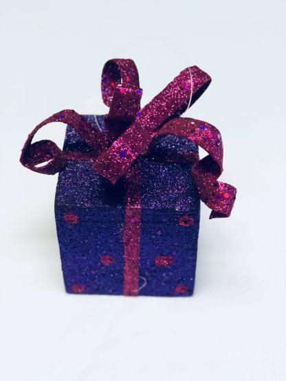 Purple Gift Box Ornament
