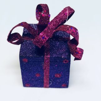 Purple Gift Box Ornament