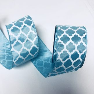 aqua satin ribbon