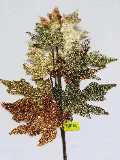 Glitter Maple Leaf Spray
