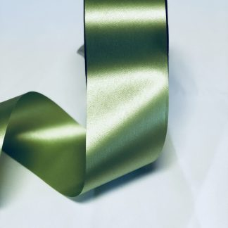 Leaf Green Waterproof Satin Ribbon