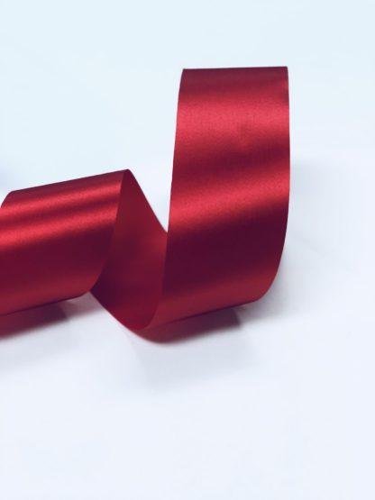 red satin acetate ribbon