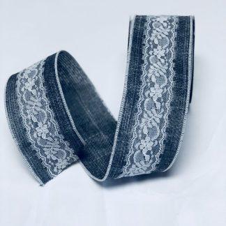 grey burlap ribbon