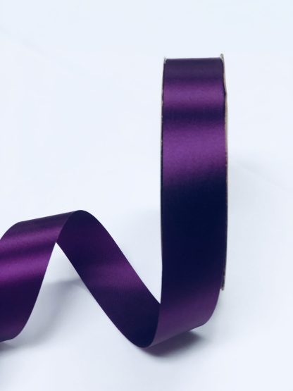 plum satin acetate ribbon
