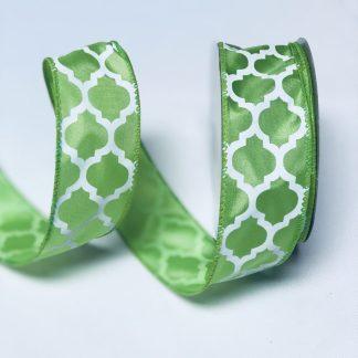 lime green satin ribbon